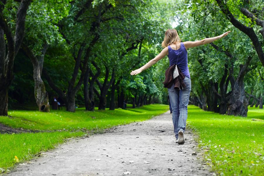 Freedom of a body enjoying walking